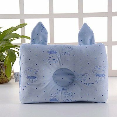 Baby Pillow For Newborn Organic cotton Protection for Flat Head Syndrome(BLUE)