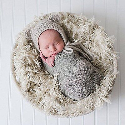 Sunmig Newborn Baby Stretch Wrap Photo Props Wrap-Baby Photography Props (Light