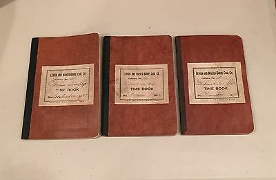 1929 Lehigh & Wilkes Barre Coal Co., Payroll Register Miners Time Books 3 Months