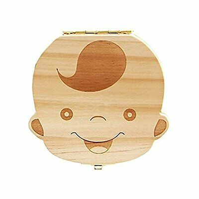 Tooth Box organizer for baby Save Milk teeth Wooden storage box for kids