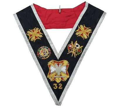 Masonic Regalia Rose Croix 32nd Degree Collar - Superior Quality