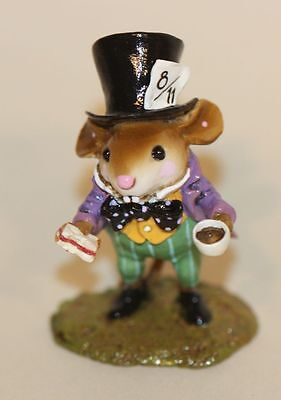 SIGNED Wee Forest Folk Alice in Wonderland Mad Hatter AIW-03 Ltd Ed in Box