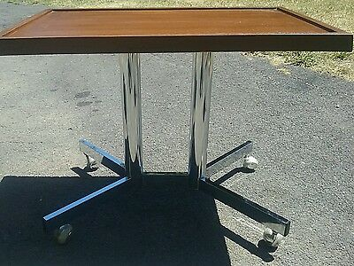 Vintage Chrome mid-century 1970s? Side table TV table