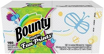 Bounty Quilted Napkins, Signature Series Prints - 160 Ct (Packaging Varies)