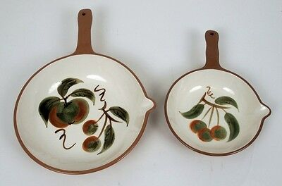 2 Stangl Orchard Song Skillets
