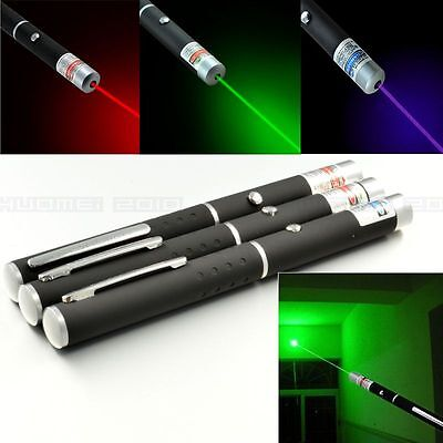 3PCS Red+Blue/Violet+Green Light Beam Powerful 5MW Laser Pointer Pen Projector