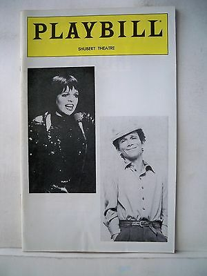 LIZA IN CONCERT WITH JOEL GREY Playbill LIZA MINNELLI Shubert Theatre PHILA 1981