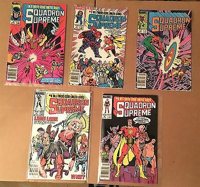 lot of 5 - SQUADRON SUPREME comics (Limited Series #1, 2, 3, 4, 6) VF/NM Marvel