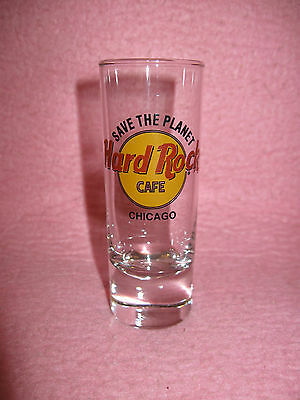 Hard Rock Cafe Chicago Cordial Shot Glass Jigger Shooter Save the Planet