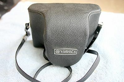 vintage  35mm camera [ Yashica Electro 35 } with leather case