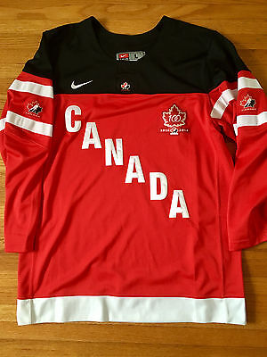 Nike Hockey Team Canada 100th Anniversary 2014 Home Jersey Red - Adult Large