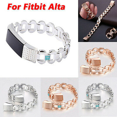 New Crystal Stainless Steel Watch Band Wrist strap For Fitbit Alta Smart Watch