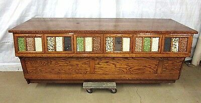 BEAUTIFUL Restored 18 Drawer Antique Sherer Oak Seed Bean Cabinet Counter