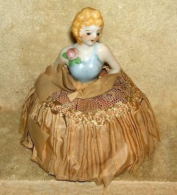 Antique Half Doll Sewing Pin Cushion