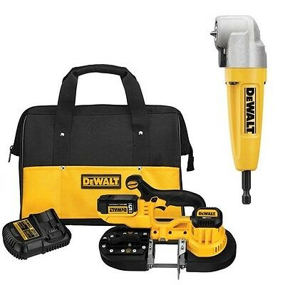 DEWALT DCS371P1 20V MAX Li-Ion Cordless Band Saw Kit, DWARA100 Adapter