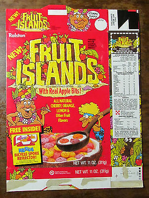Fruit Islands cereal box 1987 1980s 80s Nerds Bicycle Spoke Reflector Ralston