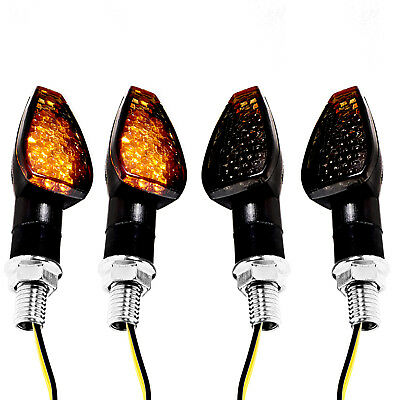 Universal Motorcycle Turn Signal Indicator Light 15 LED Amber Blinker E-mark x 4