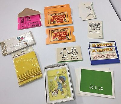 Mixed Lot of Vintage Mid Century Unused Party Invitations Some Sealed 40+