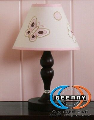 Lamp Shade for Pink Brown Butterfly Crib Bedding Set