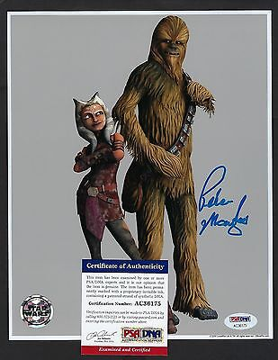 Peter Mayhew signed 8x10 photograph PSA Authenticated Clone Wars