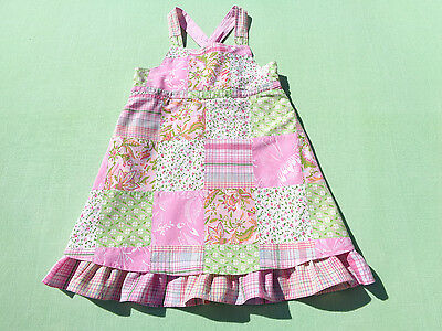 baby gap baby girls sun dress size 18-24 months patchwork euc