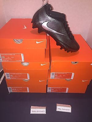 Nike Vapor Strike 5 TD Football Cleats Sz. 13 New Black/Silver 100% Authentic