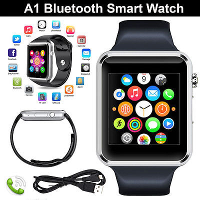 AU Newest GT08 Bluetooth Smart Watch NFC Wrist Phone Mate For iPhone Andorid