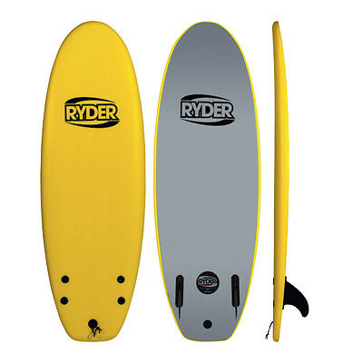 "Ryder Prodigy Foam Surfboard 4'10"" - Twin Fin Beater Style (Various Colours)"