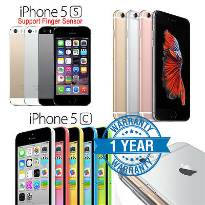 Apple iPhone 5c 5s 6 6s/Plus 16GB 32GB 64GB Factory Unlocked Smartphone Grade A
