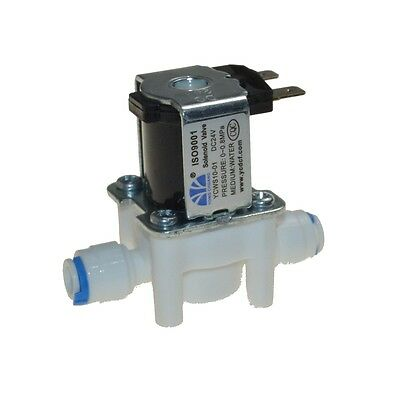 "12VDC  1/4"" Hose quick connection NC Plastic Electric Solenoid Valve RO water"