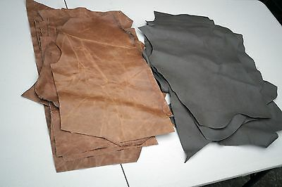 Cowhide leather Craft panels/pieces  34.5 x 22 cm Sets of 3