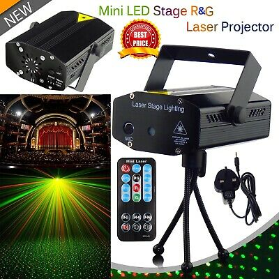 Sounds Active LED Stage Lighting R&G Laser Projector Disco Party UK Plug
