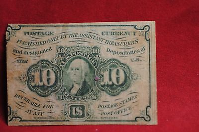 US Fractional Currency: 10 Cents  1st Issue  Fr. 1243  Fine