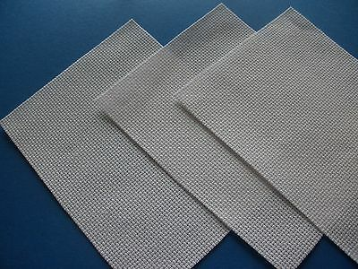 Pack of 3 White 14 Count Aida Cloth Card Sized Pieces - 10 x 12cm