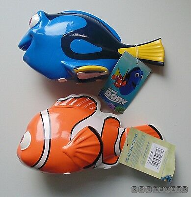Dory and Nemo 3D money box's from Finding Dory NEW & TAGGED