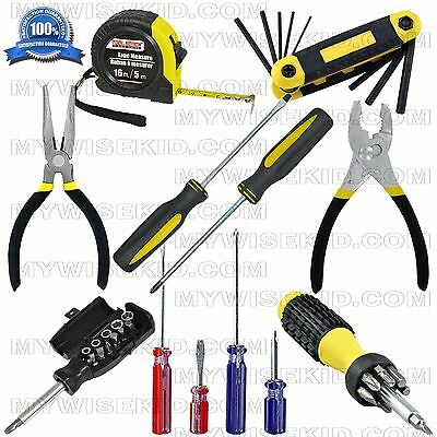 39-Pc Magnetic Screwdriver set Awls Torx Square Phillips Slotted Bit Tape Pliers