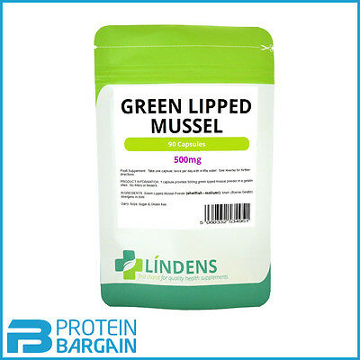 Green Lipped Mussel 500mg 90 Capsules Joint Health Humans and Dogs Lindens