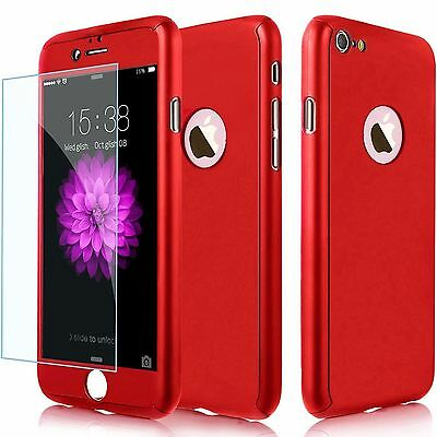 360° Full Hybrid Tempered Glass+Acrylic Hard Case Cover For iPhone 6s 6 7 Plus