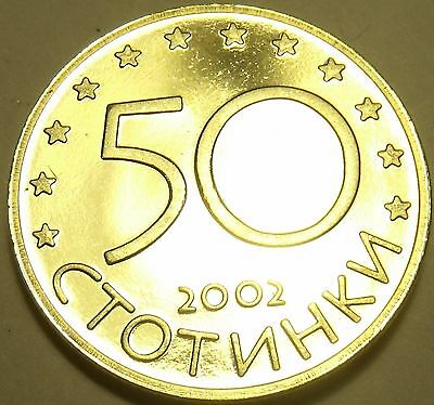 Rare Proof Bulgaria 2002 50 Stotinki~Last Year~10K Minted~Free Shipping