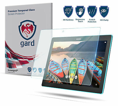 """2x gard Tempered Glass Screen Protector for Lenovo Tab 3 10.1"""" Inch 16GB Tablet"""