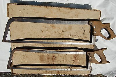 2 Vintage Meat Butchers Saws Henry Disston & Son