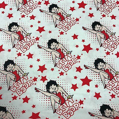 RED WHITE & BOOP COLLECTION - 100% Cotton - BETTY BOOP (STARS) (4510203-3)