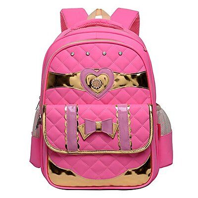 Moonwind Princess Quilted Bow Kids School Backpack for Girls Book Bag Schoolbag