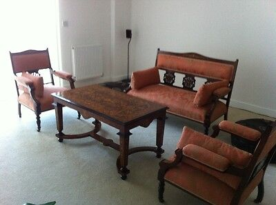 A Beautiful Antique Set Of Edwardian Mahogany And Rosewood Nursing Suites