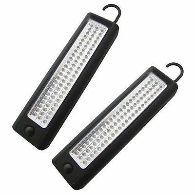 2 x ULTRABRIGHT 72 LED WORKLIGHT INSPECTION LAMP MAGNETIC WORK LIGHT TENT TORCH
