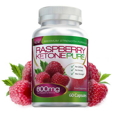 Raspberry Ketone Pure Max Strength 600mg 60 Diet Capsules Evolution Slimming