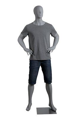 Abstract Male Mannequin, Grey Color, Made of Fiberglass (lee6)