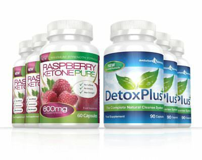 Raspberry Ketone Pure 600mg Colon Cleanse Combo 3 Month Evolution Slimming