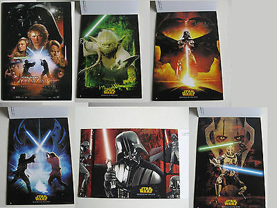 LOT 6 CARTES POSTALES STAR WARS ép. III la revanche des sith revenge of the sith