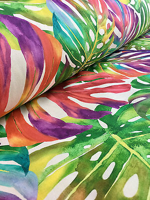 TROPIC LEAVES Palm Designer Curtain Upholstery Cotton Fabric Material 140cm wide